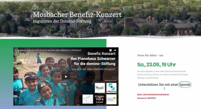 Livestream Benefizkonzert (Domino Stiftung)
